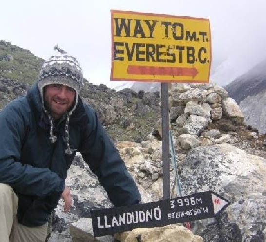 James Thomas, Everest base camp