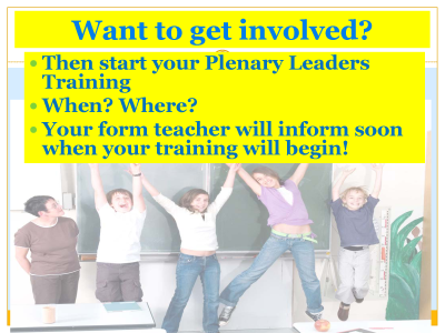 plenary - get involved