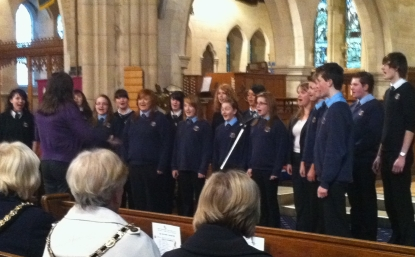 Bel Canto sing at the Cruse bereavement carol service