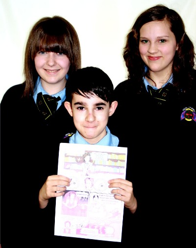 Winners Lucy , Francisco & Olivia