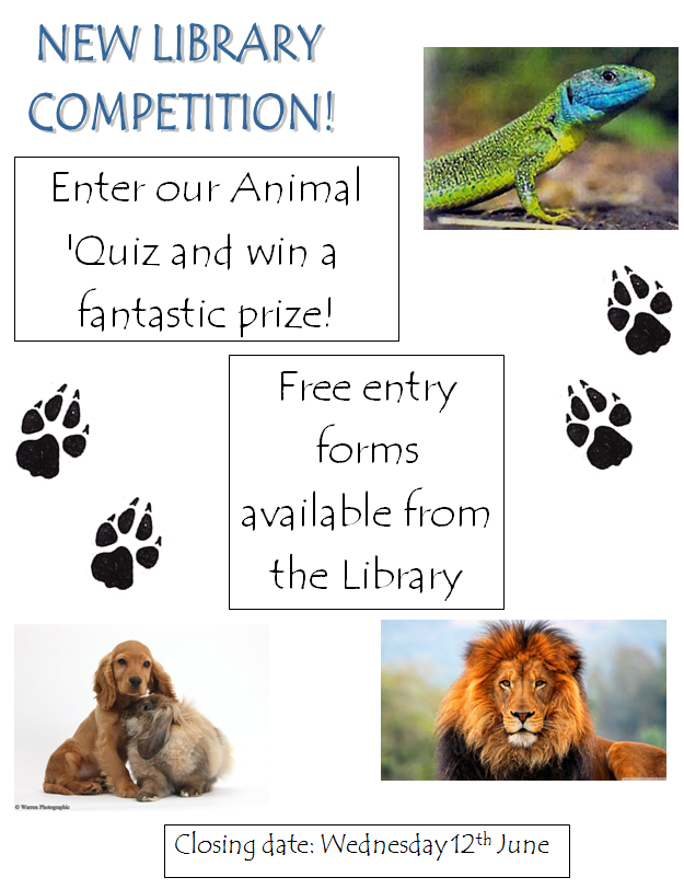 library-animal-quiz-poster